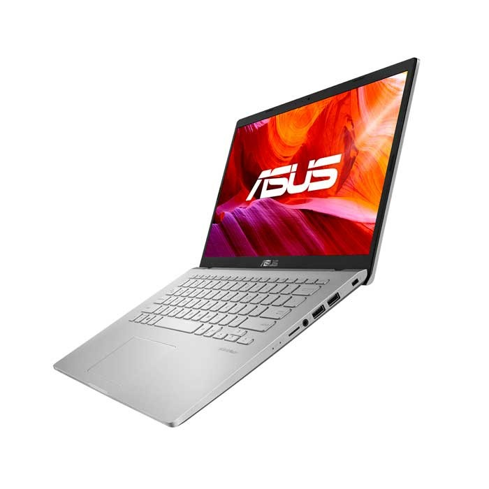 Laptop ASUS X409M: Procesador Intel Celeron N4020 2.8Ghz,Ram 4Gb, Disco duro 1TB, Display LED-backlit HD (1366x768) 60Hz, Web cam, No DVD-RW,Teclado en español,Windows 10 64 bits,color plata, Garantia 1 año, Nuevo