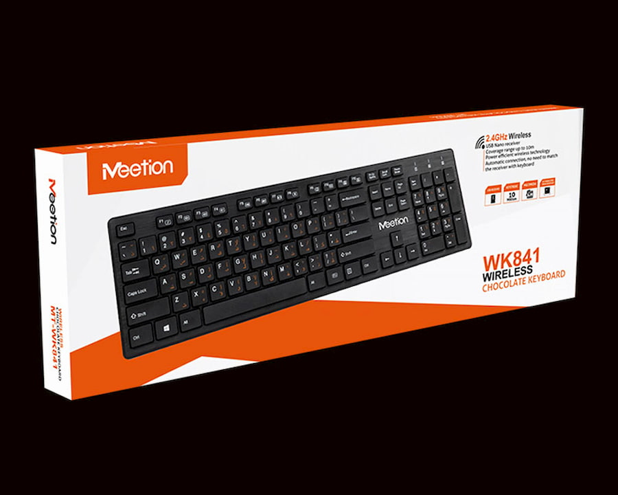 Teclado MEETION Inalambrico MT-WK841 Negro